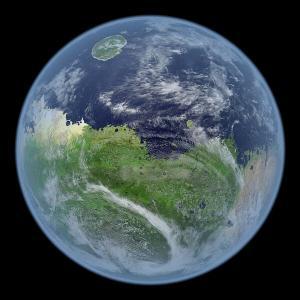 Marte antes da degradação de sua atmosfera